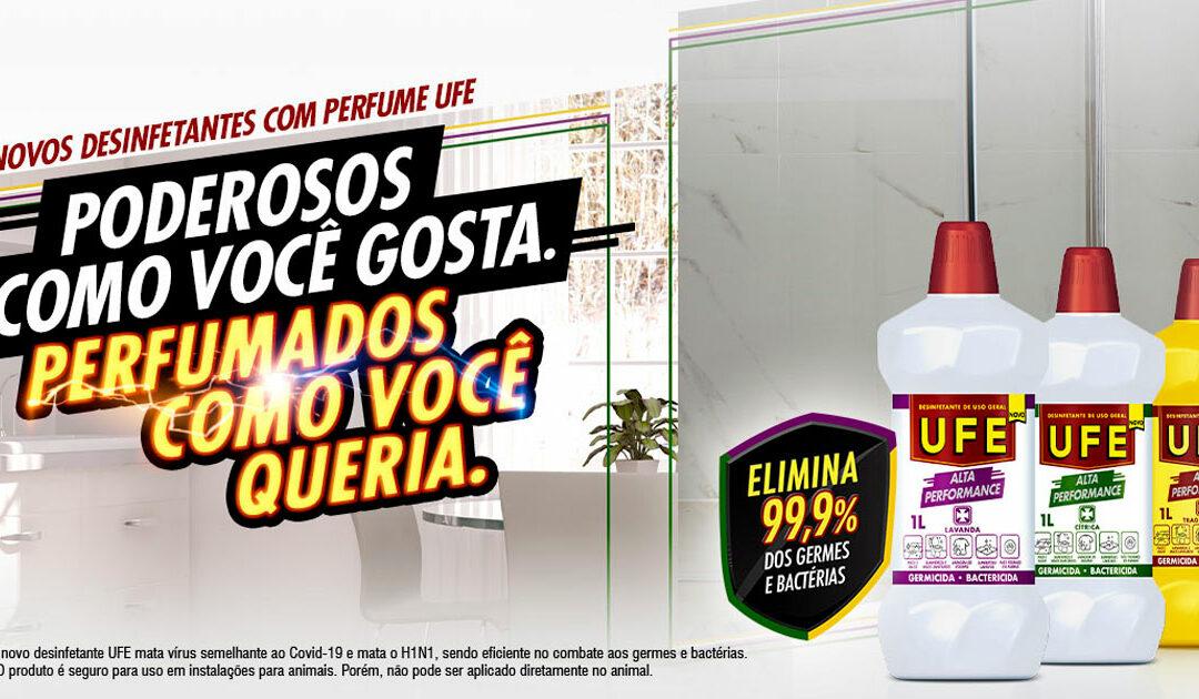 Desinfetante UFE lança novas fragrâncias